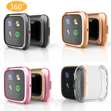 Full Protector Case For Fitbit Versa 2 Protective Case TPU Electroplated Watch Case For Fitbit Versa 2 Funda Cover Accessories mijobs pc diamonds case cover for fitbit versa band screen protector watch shell smart watch accessories for fitbit versa lite