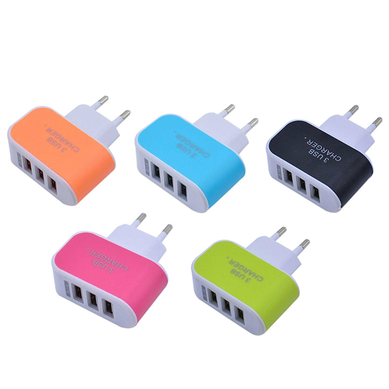 New 3 Ports 3.1A Triple USB Port Wall Home Travel AC Charger Adapter EU Plug Mobile Phone Accessories Charger For IPhone Android