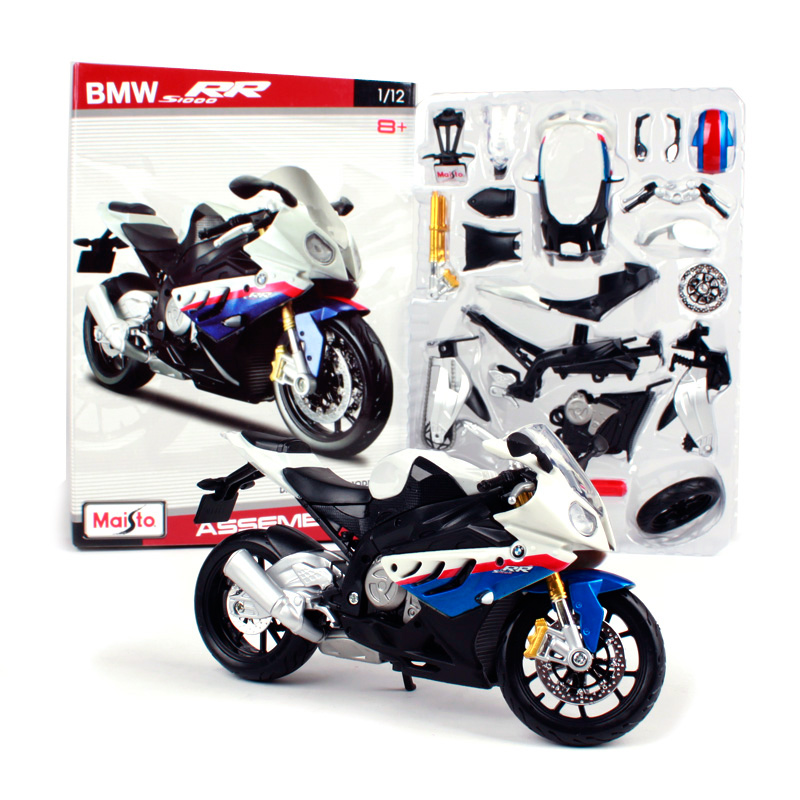 Maisto 1:12 BMW S 1000 RR tomahawk Assembly DIY <font><b>MOTORCYCLE</b></font> BIKE <font><b>Model</b></font> Kit FREE SHIPPING NEW ARRIVAL 39191 image