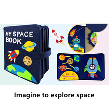 Handmade My Space Book Early Learning Educational Aids Story Book DIY Crafts Explore Space Toy Book Picture Book Package For Kid