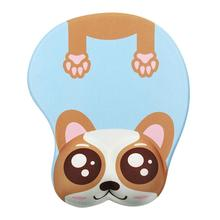 Cartoon Dog Mouse Pad Silicone Mouse Pad Hand Care Wrist Gaming Mat Wrist Rest Mouse Pad (Blue Brown)