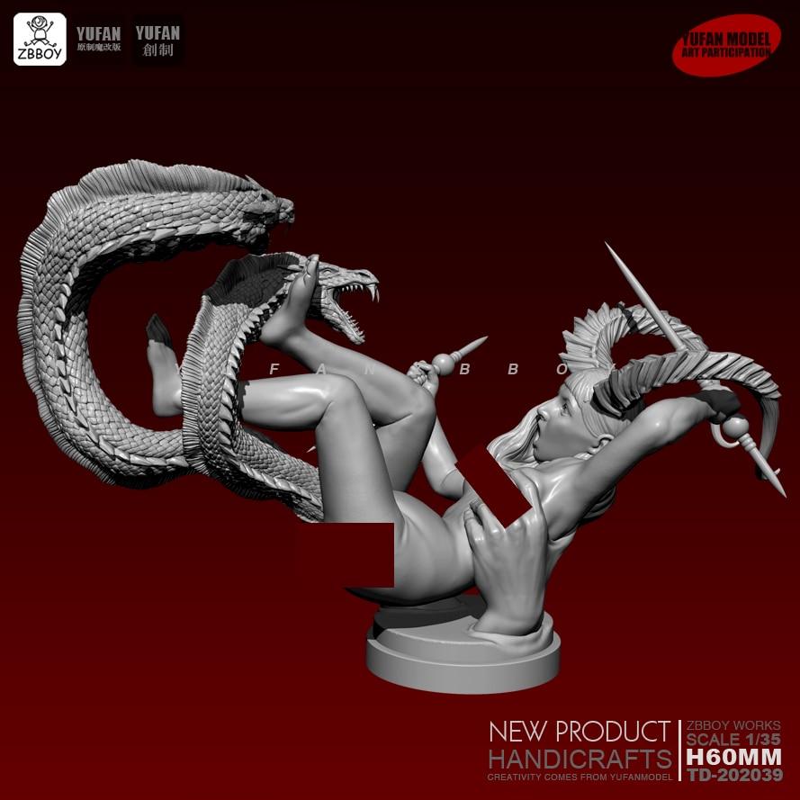 1/35 Resin Kits Satan's Daughter Resin Soldier Self-assembled TD-202039