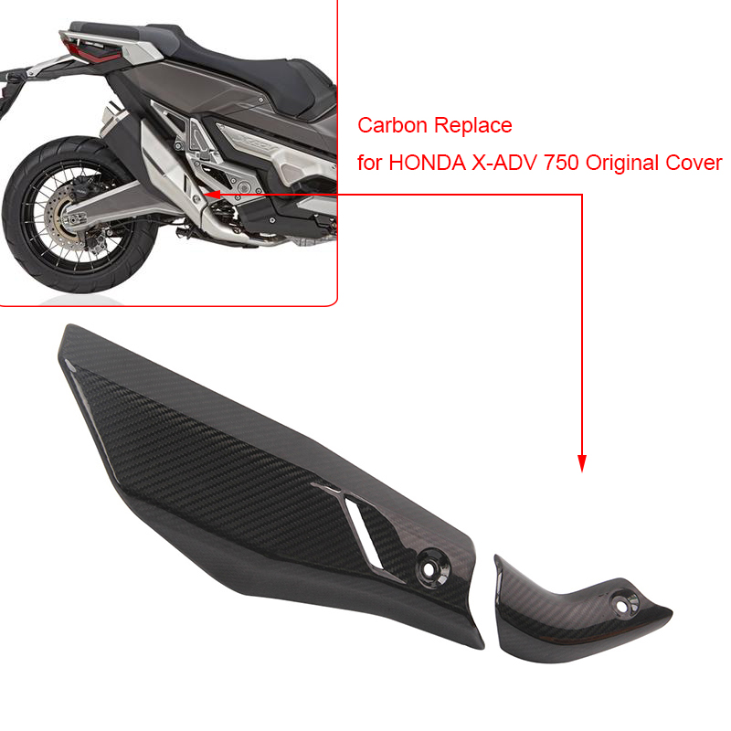 perfk Motorcycle Exhaust Pipe Heat Shield Cover Protector for Kawasaki Z900 2017 2018 2019 ,1 Piece