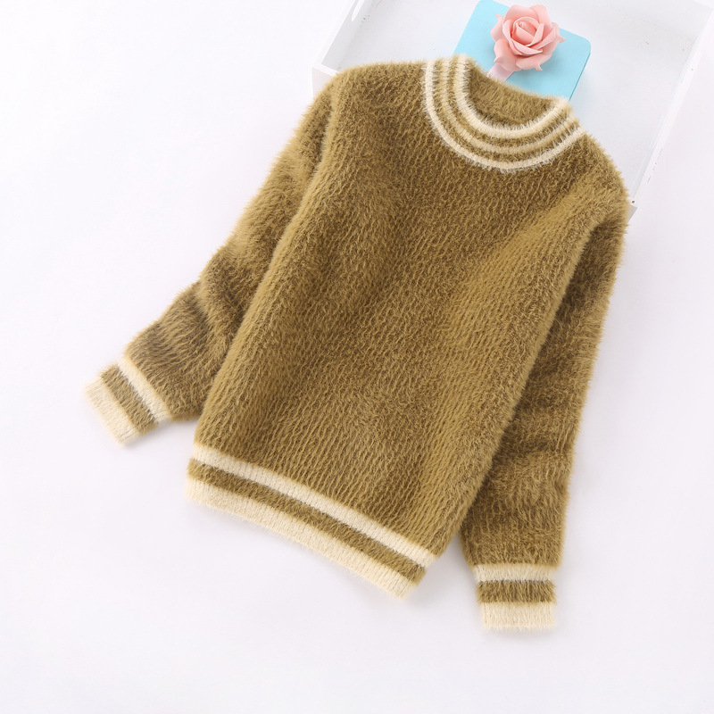 Baby Little Girls Winter Knit Sweater Girls Sun Flowers Sweatshirt Pullover Thick Knitwear