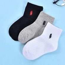 Новые стильные детские носки, осенне-зимние детские носки ручной работы в Корейском стиле с вышивкой однотонная вышивка