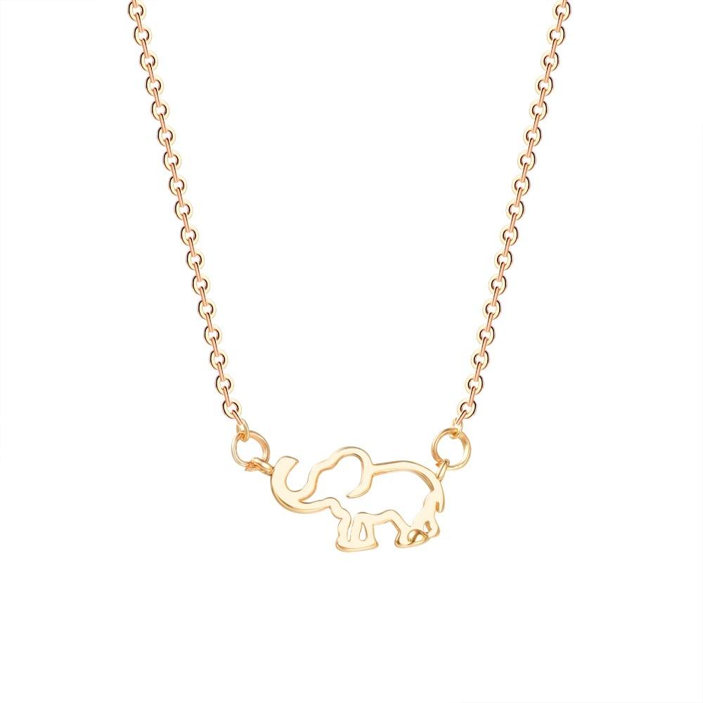 Wholesale Thailand Elephant Necklaces Pendants Gold Silver Chain