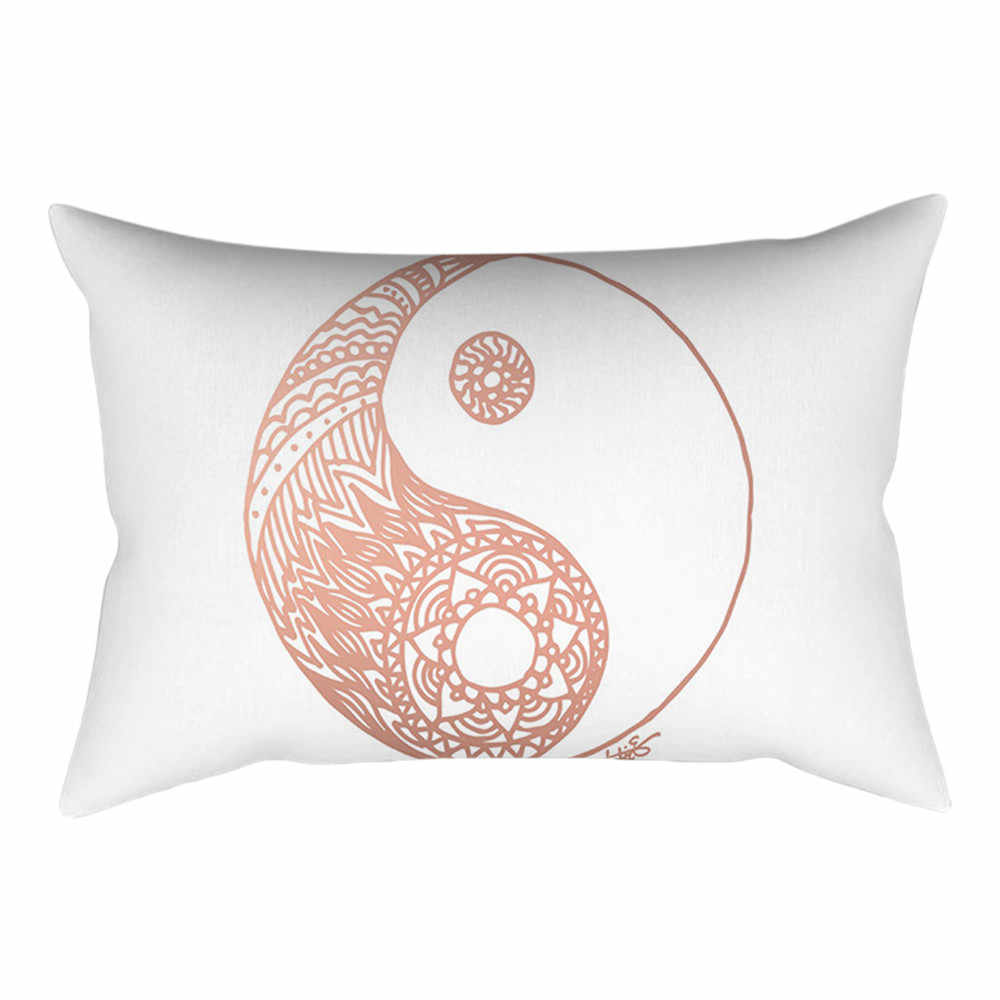 Poszewki na poduszki poszewki na poduszki lniana poduszka przypadki strona główna róża retro złoty różowy kwadratowy poszewka Home Decoration Warm