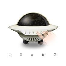 Galaxy Night Light Projector Sky Projection Lamp  Speaker UFO Light