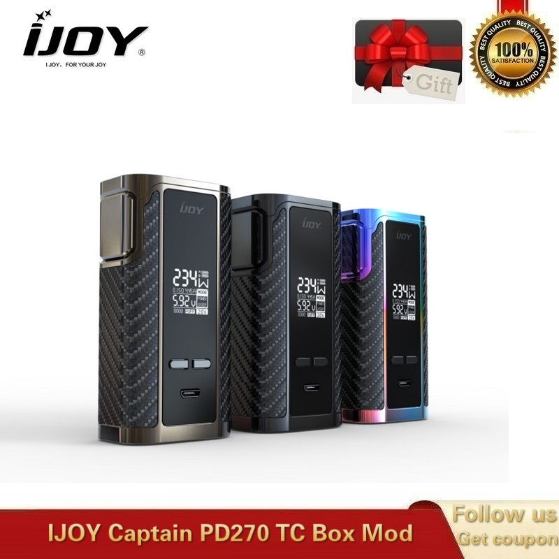 IJOY Captain PD270 TC Box Mod 234W Fit Captain Vape Tank Vaporizer Electronic Cigarette VS Gen ALIEN 220W 20700 18650 Battery
