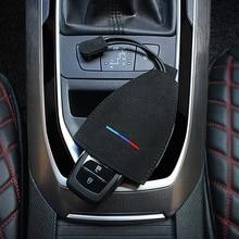 3 вида цветов, автомобильный брелок, чехол для ключей, сумка для ключей из натурального меха, автомобильный держатель для ключей BMW M F30 X5 E53 E34 E39 E46 E90 F20 F10 E92 M3 M5, автомобильные ключи, сумка для хранения ключей