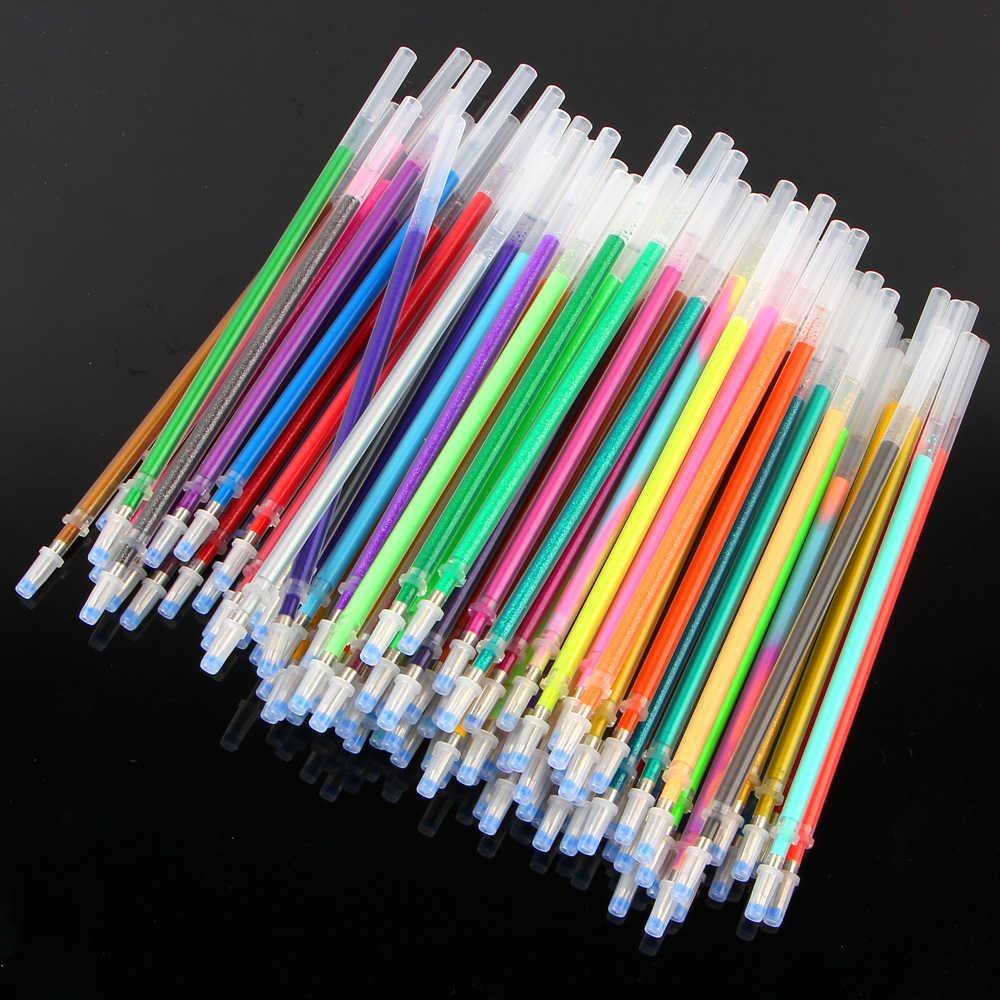 ססגוני כדורי ג 'ל להדגיש עט מילוי סט צבעוני הניצוץ עט מילוי עבור בית ספר Chancellory Boligrafos 04116