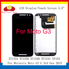 10Pcs/lot LCD For Motorola Moto G3 Display XT1544 XT1543 Touch Screen Digitizer LCD moto G3 Display G 3 XT1540 xt1541 xt1550