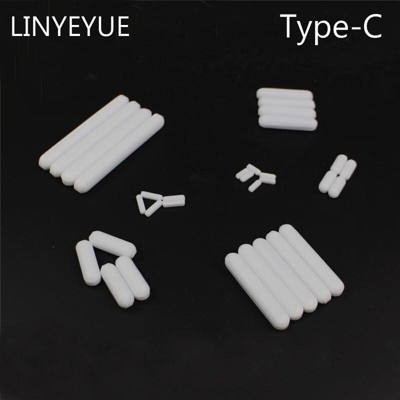 LINYEYUE 10 Pieces/pack Teflon Agitator (type C) PTFE Magnetic Stir Bar Stirring Bar Magneton Rotor For Laboratory