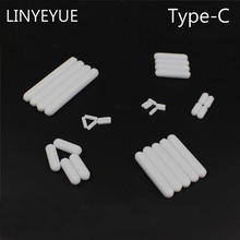 LINYEYUE 10 pieces/pack Teflon agitator (type C) PTFE Magnetic Stir Bar Stirring Bar Magneton rotor for Laboratory 78 2 lab agitator magnetic stirring apparatus whisk laboratory beaker mixing tools with the function of heating