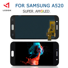 100%test Super AMOLED LCD For Samsung Galaxy A5 2017 A520 A520F A520M LCD Display Touch Screen Digitizer Assembly Panel Pantalla super amoled a520 lcd for samsung galaxy a5 2017 a520f a520f ds a520k sm a520f display touch screen digitizer assembly lcd parts