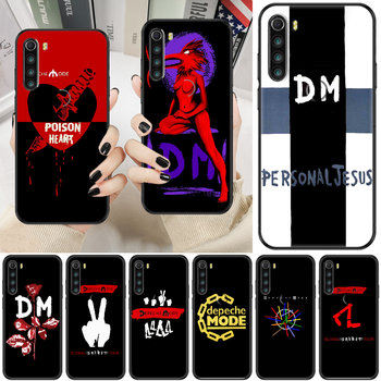 Depeches band Mode Phone case For Xiaomi Redmi Note 7 7A 8 8T 9 9A 9S K30 Pro Ultra black silicone cell cover 3D coque trend image