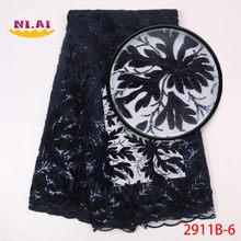 Lucury Velvet Lace Fabric, Newest Dresses Lady Fabric, Nigeria Embroidery Lace Materials Mr2911b(China)