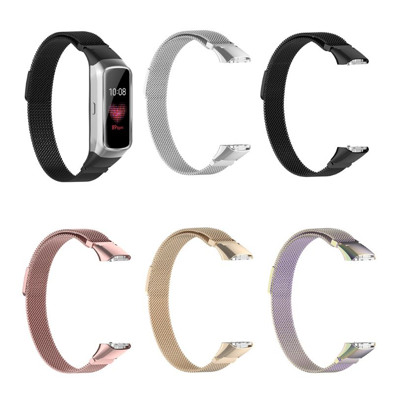 Magnetic Stainless Steel Replacement Watch Band Strap For Samsung Galaxy Fit SM-R370 Bracelet