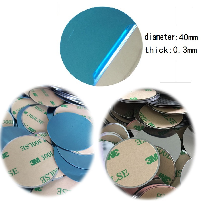 40x0.3mm 30x0.3mm Metal Plate Disk Iron Sheet For Magnet Mobile Phone Holder For Magnetic Car Phone Stand Holders Free