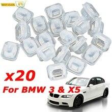 20Pcs Car Interior Trim Moulding Clips For BMW 3 Series E46 E90 E91 E92 E93 X5 E53 Auto Door Retainers Grommets 07149158194