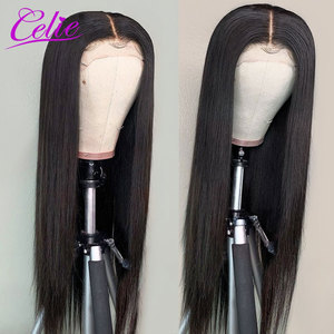 Image 4 - Highlight Wig Straight Lace Front Wig 28 30 Inch Red Wig Highlight Colored Human Hair Wigs Celie Honey Blonde Lace Front Wig