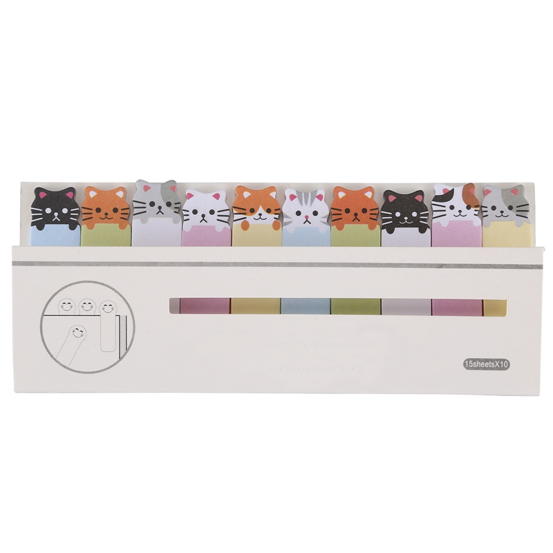 Memo Sticker Cartoon Animal Sticker Memo Bookmark Marker Tab Flags Index Sticky Notes