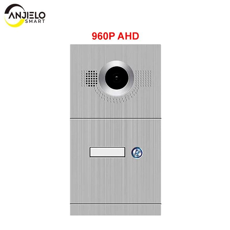 AnjieloSmart 960P/AHD Video Door Phone Single Door Bell IR Camera High Resolution 1 Button Call Panel Camera IP65 Waterproof