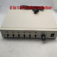 6 в 1 из композитный BNC видео коммутатор для CCTV системы безопасности
