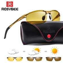 Aluminum Magnesium Photochromic Sunglasses mens Polarized Day Night Vision Men Oculos Driver Yellow male Driving Glasses gafas