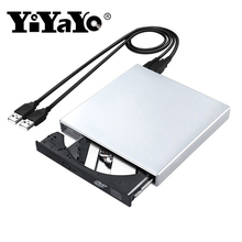 YiYaYo USB 2,0 CD RW горелки оптический привод Внешний DVD комбо CD/DVD rom плеер портативный для ноутбука компьютер Windows 7/8