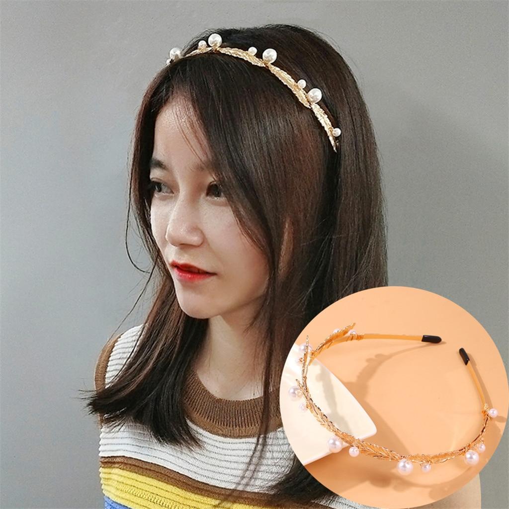 Women/'s Girl Pearls Hairband Knot Cross Headband Headwrap Hair Hoop Accessories