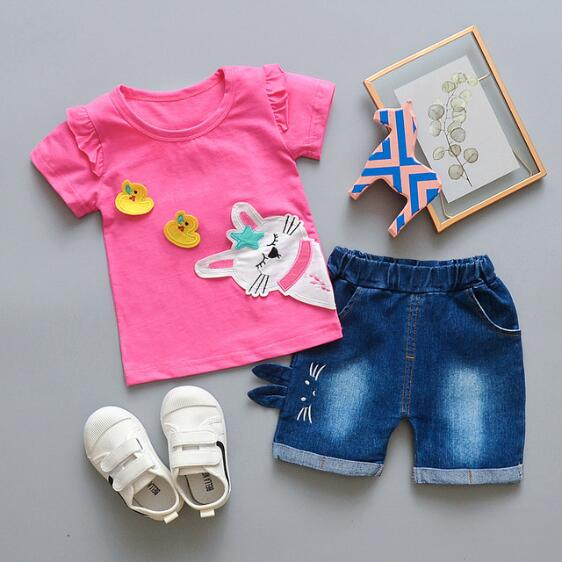 BibiCola New Summer Children Clothing Girl Small Cute Cat Shorts Suit Baby  Girls Clothing Set kids Girl Clothes Children Clothes Clothing Sets  -  AliExpress