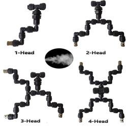 4 head podlewania ogrodu gadów Fogger pan z szybkie łączenie dyszy (0.3mm) połączyć się z 1/4 ''rury w Opryskiwacze od Dom i ogród na