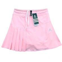 Весна лето теннис бадминтон шорты дамы Бег Спортивная юбка с карманом безопасности брюки юбка сплошной цвет