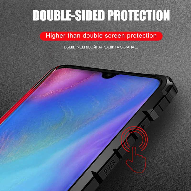 Lüks zırh darbeye dayanıklı durumda Huawei P20 Lite P30 Pro yumuşak geri durumda Huawei dostum 20 Lite 30 Pro silikon tampon kılıf kapak