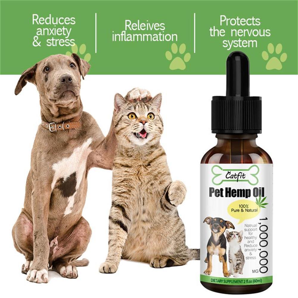 Эфирное масло из Натуральной Конопли GPGP Greenpeople для собак и кошек, облегчение беспокойства животных, усиление иммунитета, масло для ухода за ...