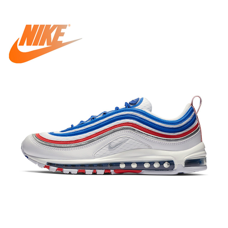 Original Authentic Nike Air Max 97 Men's Running Shoes Sneakers Classic Outdoor Sports Jogging Walking Athletic 921826-404