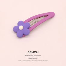 Sempli Plastic Floral Multicolored Petals Pins Bobby Pin Sunflower Girls Hair Clip Grips Women Bob Accessories