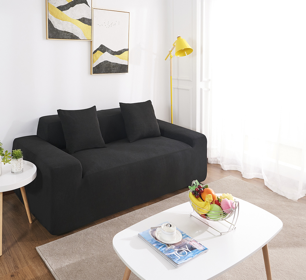 MEIJUNER Waterproof Sofa Cover in Solid Color with High Stretchable Slipcover for Dining Room 13