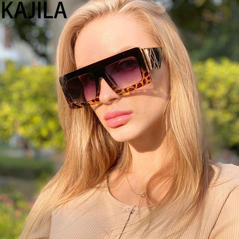 Boy kare güneş kadınlar 2020 yeni varış ayna Vintage büyük çerçeve lüks marka tasarımcısı Shades güneş gözlüğü kadın