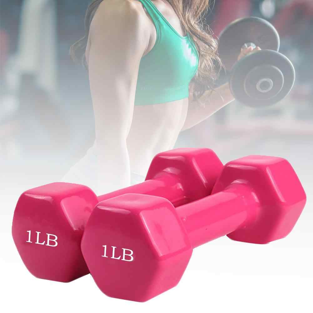2pcs Dumbbell Womens Yoga Workout Hand Training Weights Home Exercise Fitness