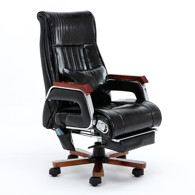 Boss Chair Leather Business Office Chair Can Lie Massage Home Swivel Chair Large Chair Study Computer Chai