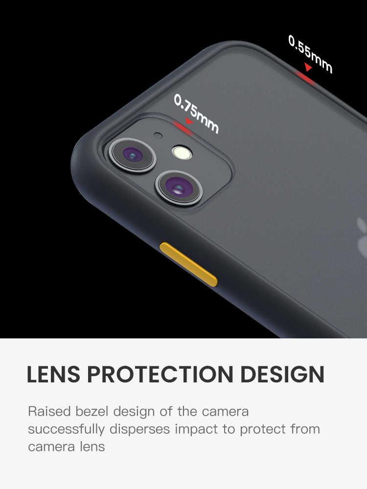 SUAIOCE Chống Sốc Chính Hãng Armor Cho iPhone 11 Pro Max X XS XR MAX 7 8 Plus SE 2020 Trong Suốt bao Da Cao Cấp Silicone