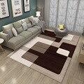 Ковер в скандинавском ретро-стиле с геометрическим принтом в полоску для гостиной, спальни, нескользящий напольный коврик, модный декорати...
