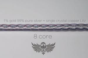 Image 5 - 1% gold + 99% pure silver + 7n OCC Litz The best mixing proportion determined by multiple mixing scheme MMCX 0.78MM