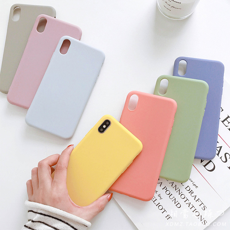 Candy Color Silicon Matte Case For IPhone XS Max XR X 10 8 7 6 6S Plus Fashion Simple Soft TPU Cover For IPhone 11 Pro Max Funda