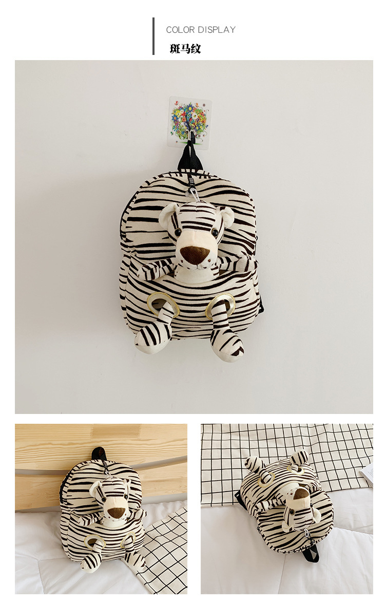 Animais de pelúcia mochila dos desenhos animados