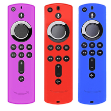 Силиконовый проактивный чехол с пультом дистанционного управления для 5,9 дюймов Fire tv Stick 4K противоскользящий дизайн 3 цвета