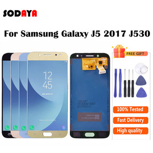 Image 2 - Adjustable Brightness For Samsung Galaxy J5 2017 J530 J530F SM J530F LCD Display + Touch Screen Digitizer Assembly