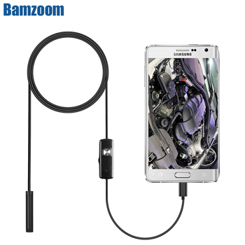 2M 1M 7mm Endoscope Camera Flexible IP67 Waterproof Inspection Borescope Camera for Android PC Notebook 6LEDs Adjustable Computer, Office & Security
